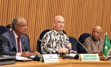Le diplomate algérien, commissaire pour la paix et la sécurité à l'UA, lors de la réunion du CPS le 20 mars 2017 à Addis Abdeba. UA